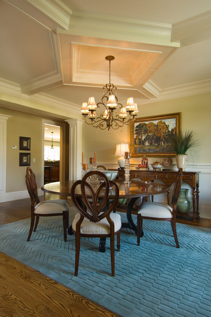 2007 southern living showcase home traditional dining for Southern dining room