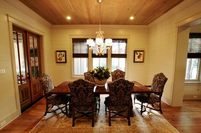 2009 showcase home craftsman dining room other metro for Bob chatham house plans