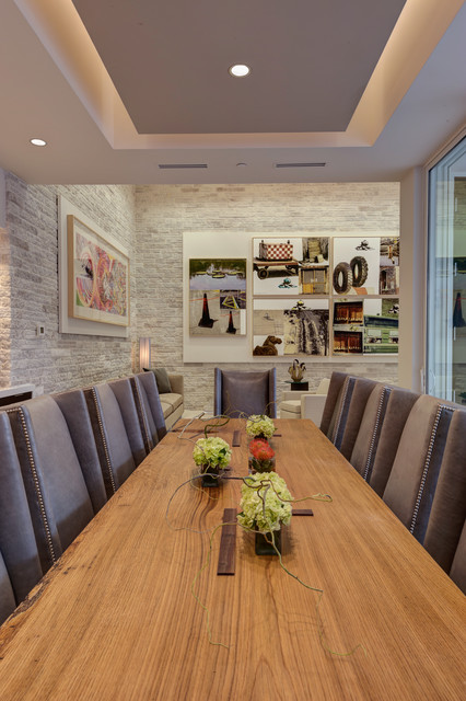 2012 New American Home contemporary-dining-room