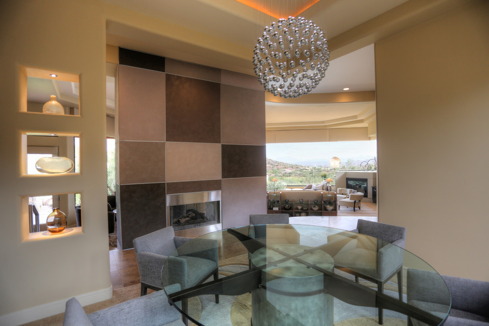 * 2014 FIRST PLACE WINNER - ASID - FURNITURE *- View from Dining Room - Contemporary - Dining ...