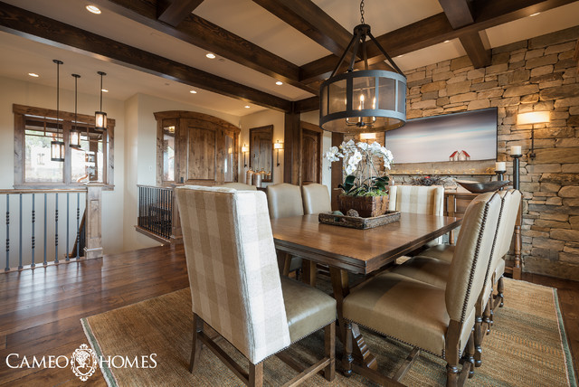 2016 park city area showcase of homes rustic dining for Dining room showcase