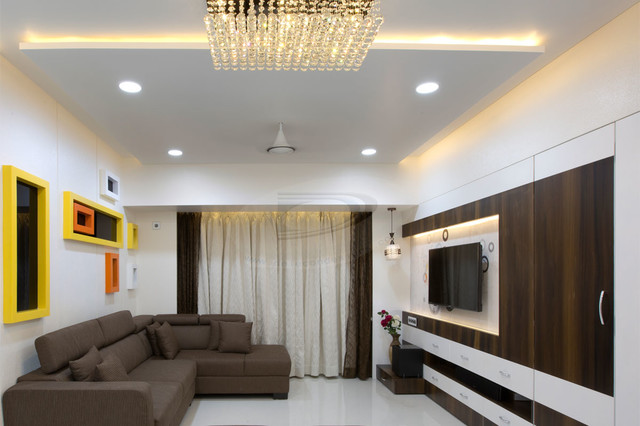 2bhk flat interior in nerul navi mumbai modern dining for 1 bhk living room interior