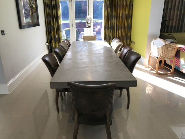 Diy Polished Concrete Dining Table: 3 Metre Extendable Polished Concrete Dining Table