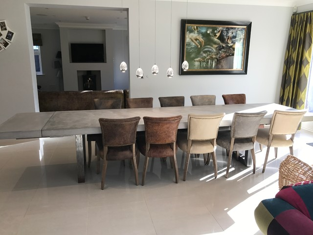 3 Metre Extendable Polished Concrete Dining Table Contemporary Dining Room Cheshire By Daniel Polished Concrete Houzz Uk