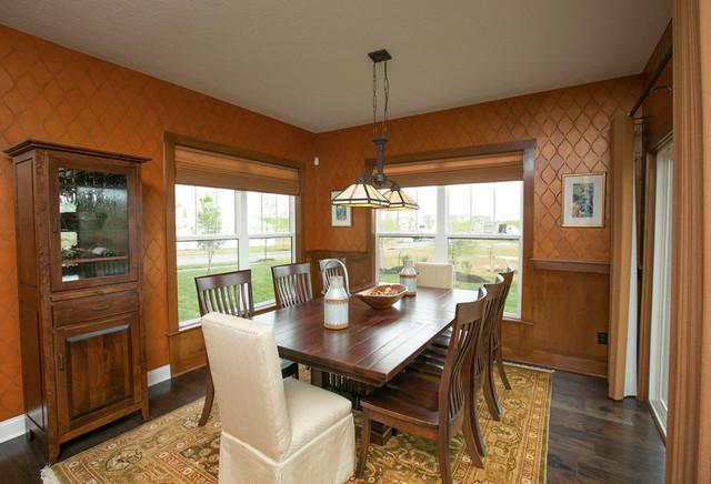 3 Pillar Craftsman Parade Home craftsman-dining-room