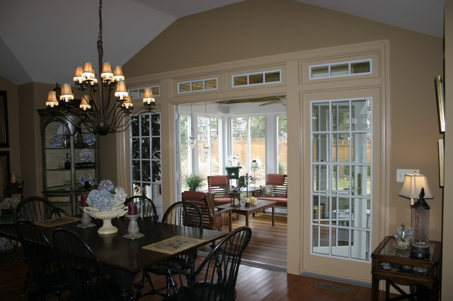 3 Season Porch, Family Room and New Kitchen traditional-dining-room