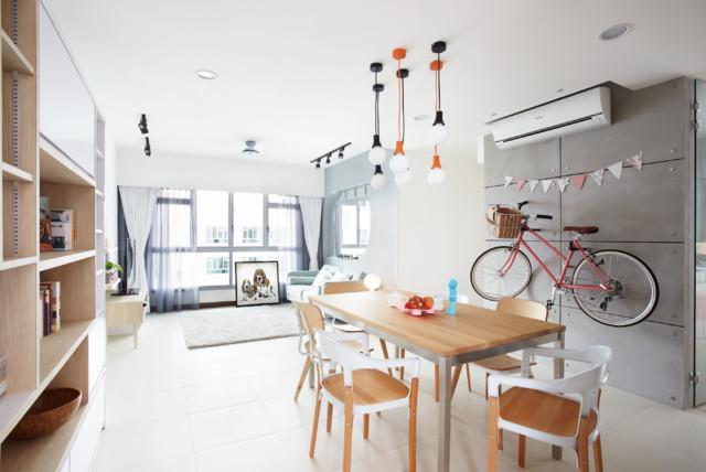 4-Room HDB - Punggol Walk scandinavian-dining-room
