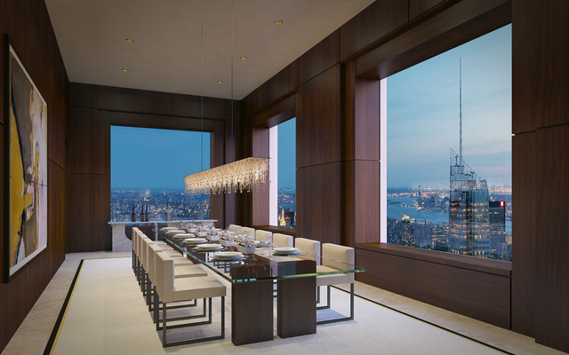 432 Park Avenue Manhattan Contemporary Dining Room