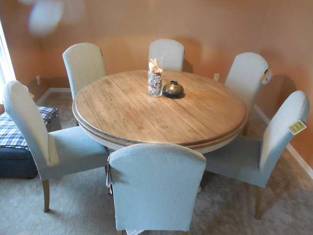 Round Dining Table With Parson Chairs