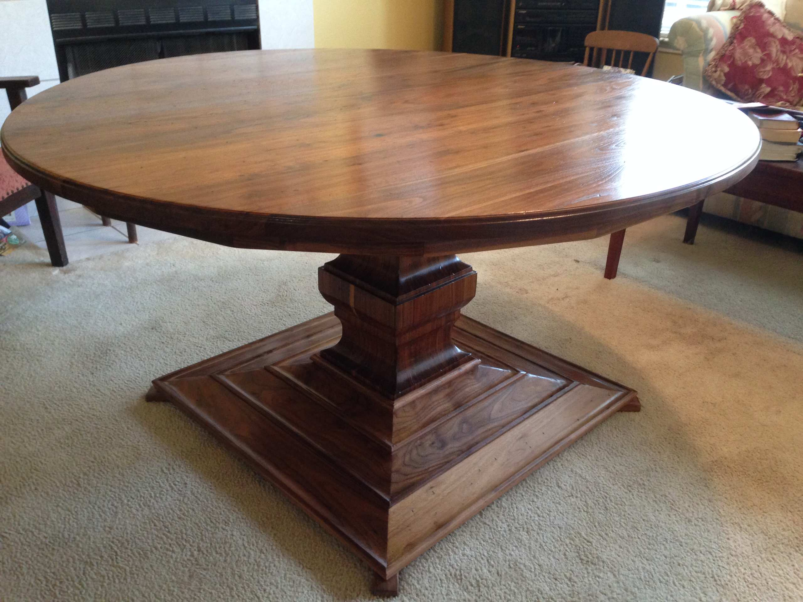 "60""  Walnut pedestal  tables"