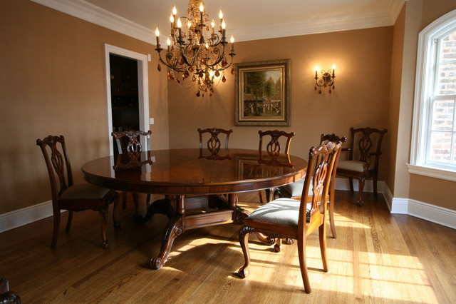 72 Round Brown Mahogany Formal Dining Room Table Ap Wal