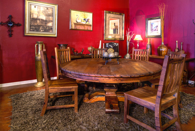 72 Round Mesquite Dining Table