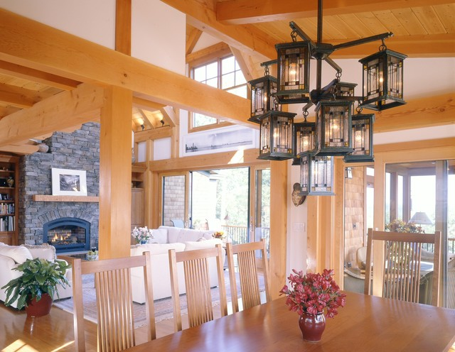 A Charming Timberpeg traditional-dining-room