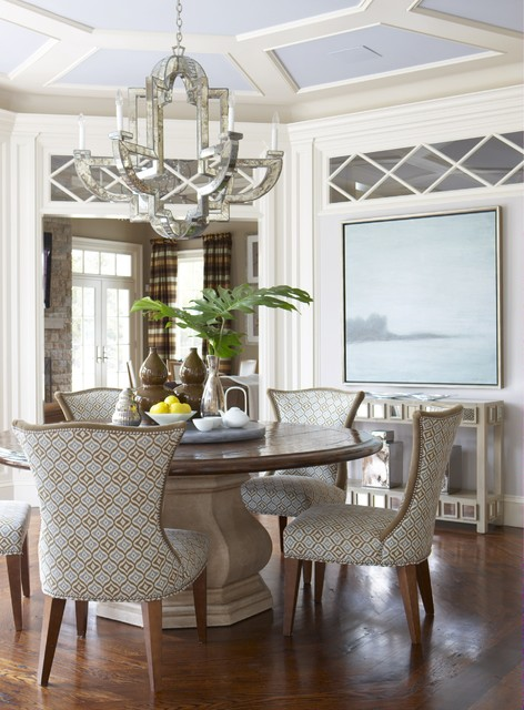 A Classic Ct Home With A Modern Flair Traditional Dining Room New York By Rinfret Ltd