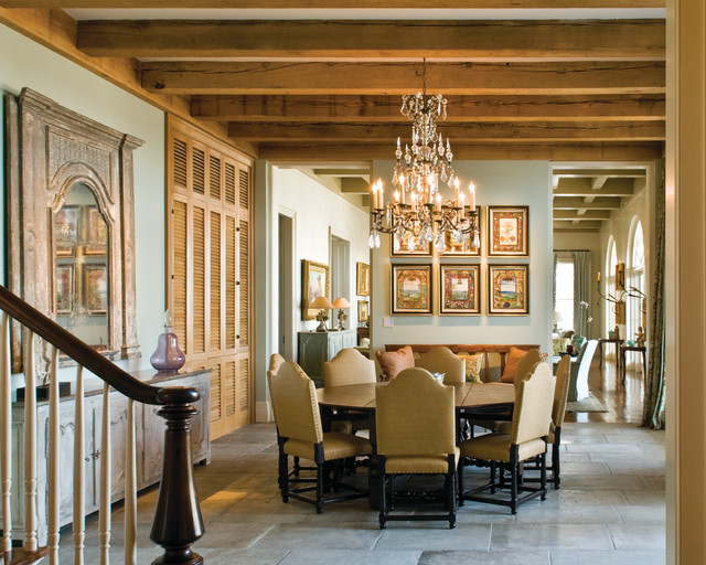 A Classical Journey: The Houses of Ken Tate traditional-dining-room