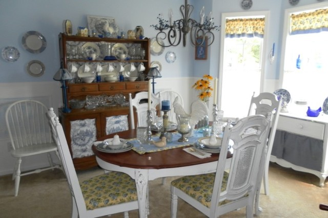 a cottage inspired dining room traditional dining room