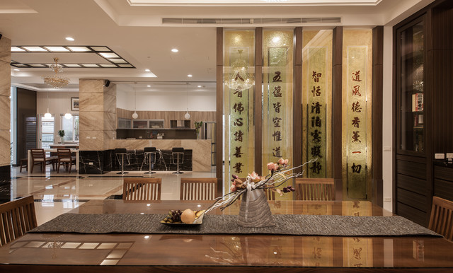 zen dining room - decor