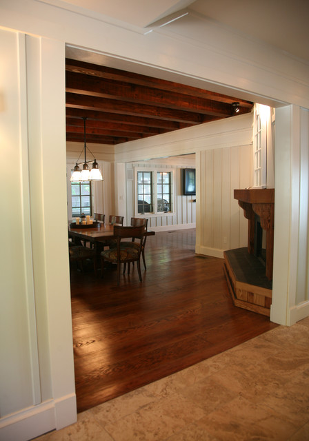 a lakehouse renovation traditional-dining-room