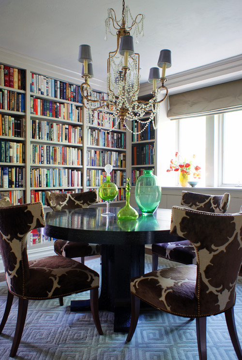 eclectic dining room by new york interior designers decorators
