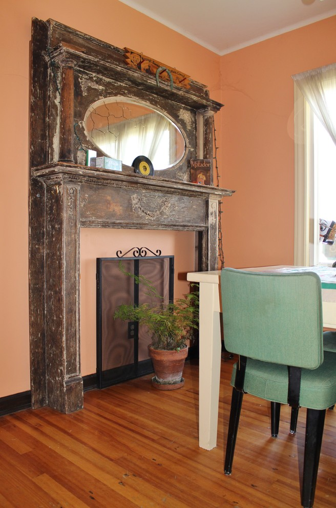 Example of an eclectic dining room design in Seattle