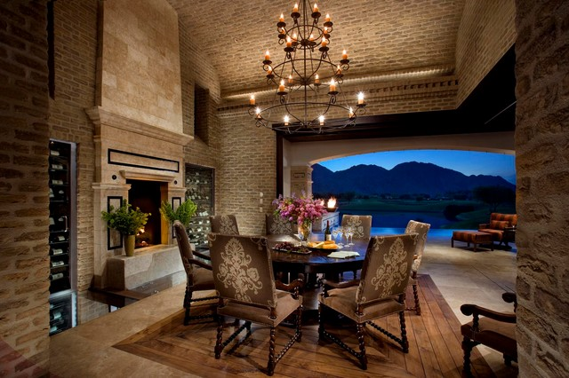 A spanish revival spanish colonial mediterranean for Spanish style outdoor fireplace