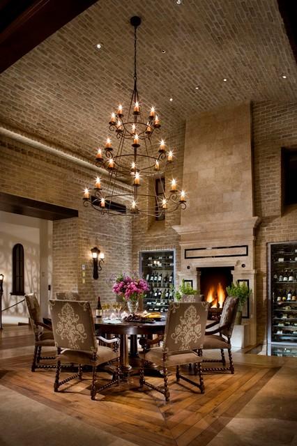 A Spanish Revival Spanish Colonial Mediterranean Dining Room