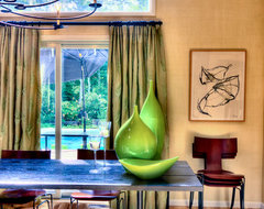 A Touch of Emerald contemporary dining room