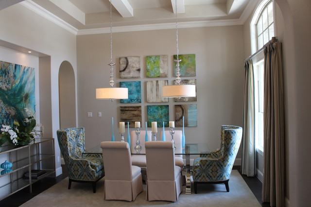 A transitional model home transitional dining room for Model home dining room