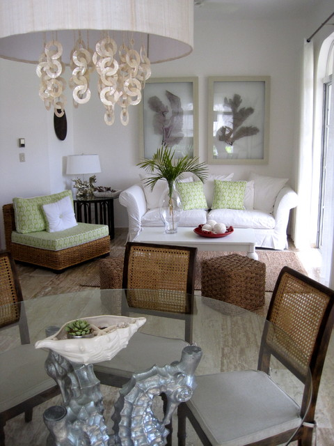 captivating tropical touches living room | A tropical touch.