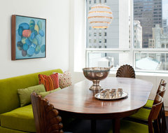 A twist to a traditional dining area midcentury-dining-room