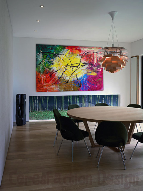 Abstract modern dining room tel aviv by ceres art for Modern paintings for dining room