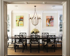 Abstract Landscape Oil Paintings transitional-dining-room
