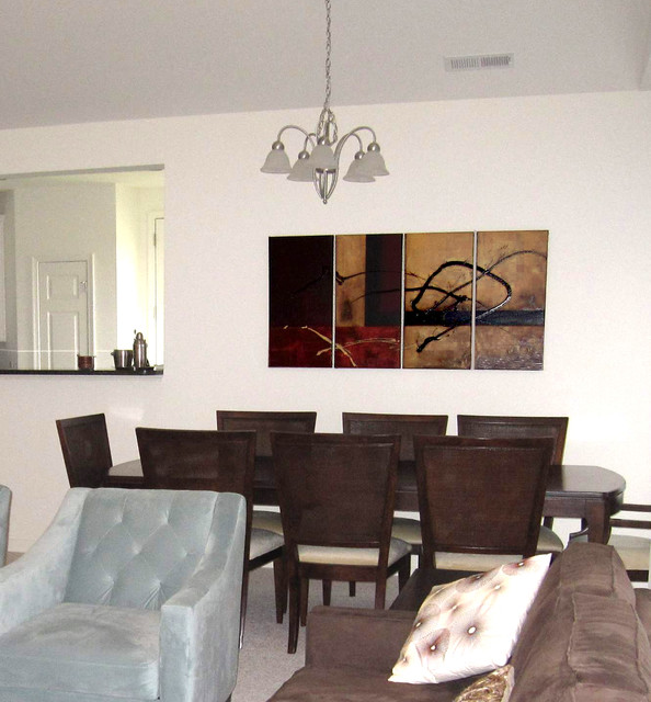 Abstract paintings traditional dining room vancouver for Modern paintings for dining room
