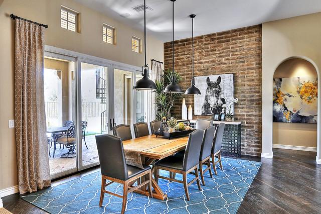 Adobe Brick Veneer Home Coronado Thin Brick Veneer Traditional Dining Room Phoenix By Coronado Stone Products Houzz Uk