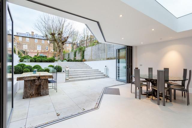 Advantage basements london transitional dining room for Advantage basements