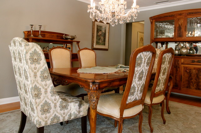 custom chairs traditional dining room los angeles