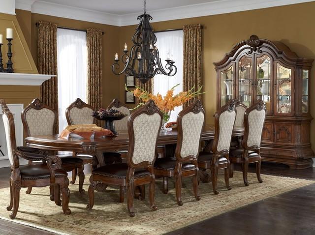 dining table set in melange mediterranean dining room orlando