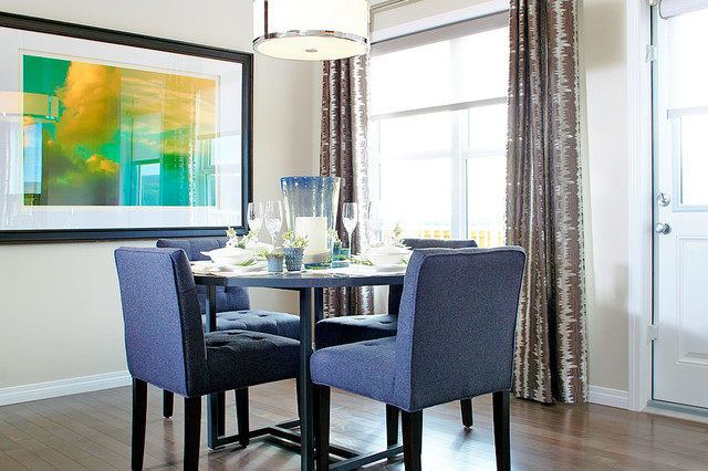 Ainsworth Show Home in Heartland (Cochrane, AB) contemporary-dining-room