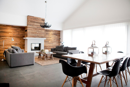 Australian interior designer Amanda Ayres used recycled hardwood salvaged from the original home before it was renovated.