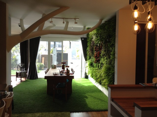 Alam Impian : Interior Eco Friendly Dining Hall Eclectic Dining Room