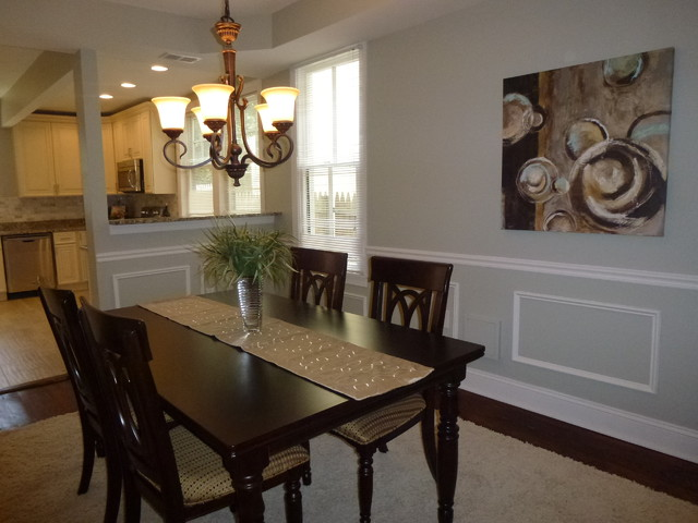 Alexandria vacant staging transitional dining room for The dining room leigh