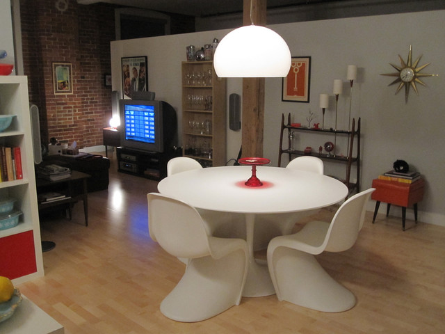 All About Eve's Renovated Candy Factory Loft eclectic-dining-room