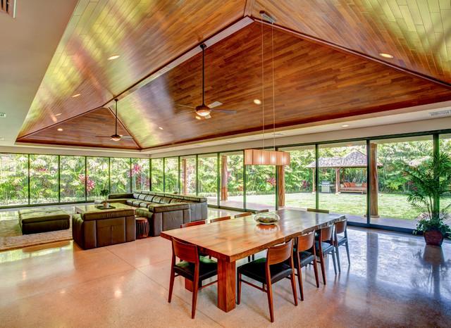 Indoor/Outdoor Living -- Hawaii-Style - Contemporary ... on Indoor Outdoor Living Room id=74032
