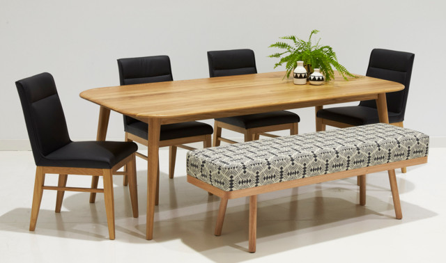 Terrific Alpine Dining Table With Goldie Bench Contemporary Forskolin Free Trial Chair Design Images Forskolin Free Trialorg