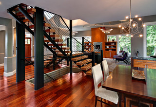 Amazing staircase - Contemporary - Dining Room - Minneapolis - by Ehlen Creative Communications