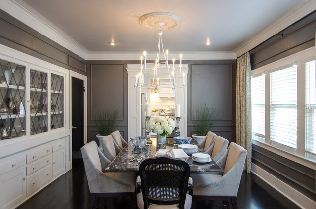 American dream builders transitional dining room los for Window design group simi valley