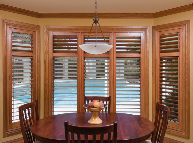 American Hardwood Custom Shutters Traditional Dining Room Austin By O 39 Hair Shutters