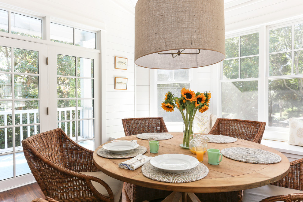Example of a coastal dining room design in San Francisco