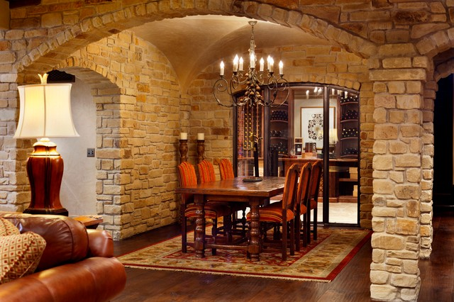 An Italian Villa For The Modern Couple    Wichita, Kansas Traditional Dining