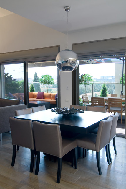 an urban penthouse modern dining room